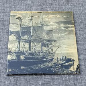 Sailing Ship 2 Engraved on Ceramic Tile