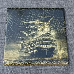 Sailing Ship 1 Engraved on Ceramic Tile