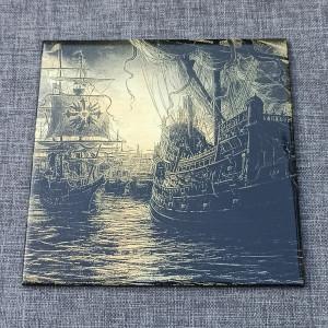 Sailing Ship 3 Engraved on Ceramic Tile