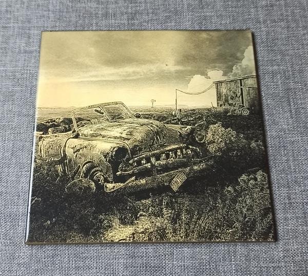 A Wreck of a Vintage Car 1 Engraved on Ceramic Tile - IMG 20210729 1425582