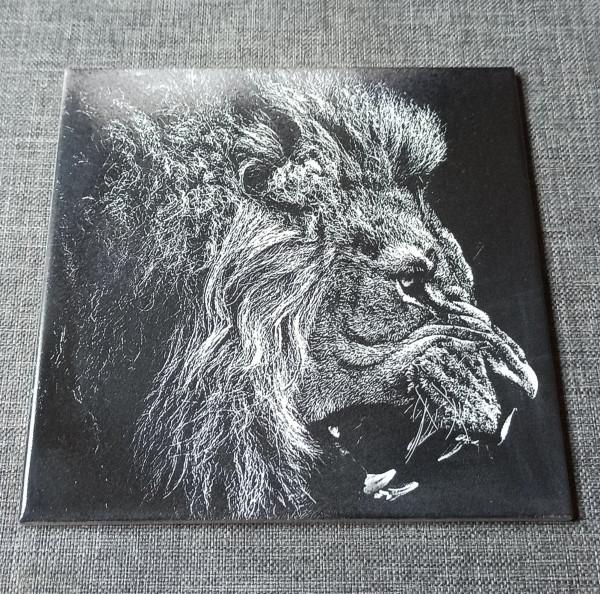 A Lion Head Engraved on Ceramic Tile - IMG 20210730 1648102