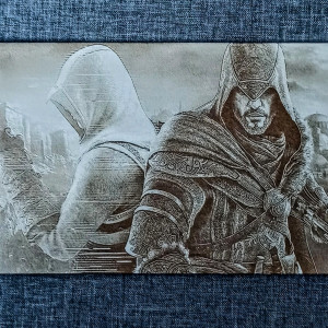Assassin's Creed Engraved on MDF Board