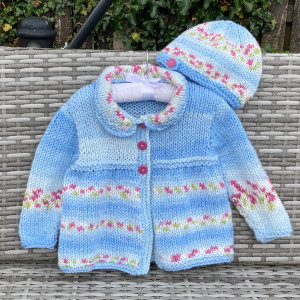 Blooming Beauty! Child's Knitted Coat and Hat