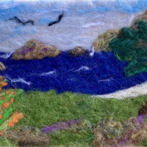 Coastal Beauty Ireland Original Fibre Artwork
