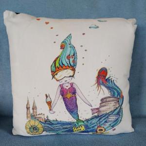 Cushion cover mermaid