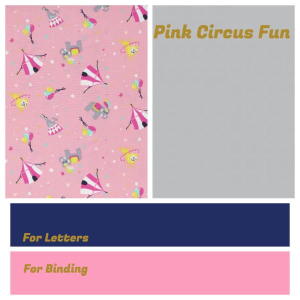 Personalised Name Bunting - Pink Circus Fun