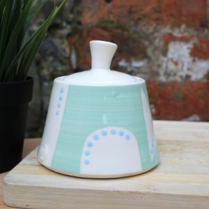 Handmade Turquoise Sugar Bowl