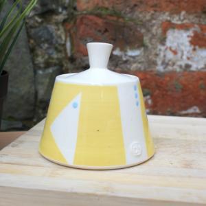Handmade Sunshine Yellow Sugar Bowl