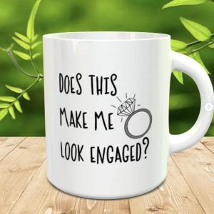 Personalised Engaged Mug