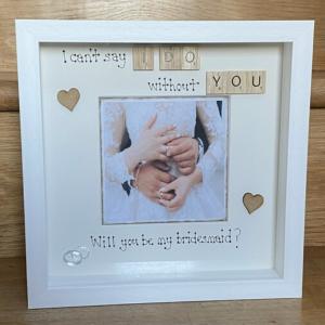 Bridesmaid Invite Scrabble Art Frame