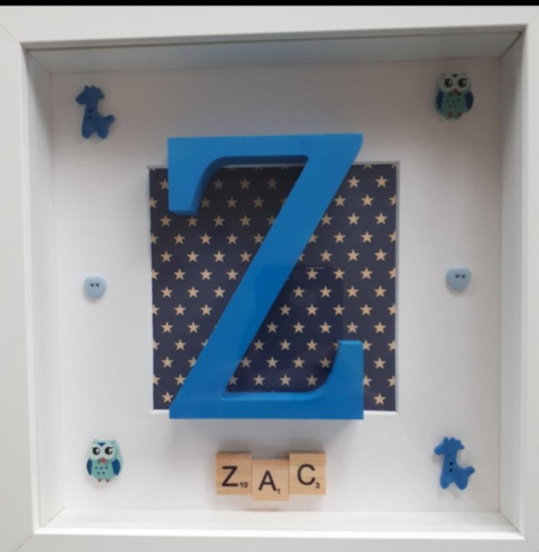 Large Hand Painted Initial Letter Frame - Screenshot 20210729 112604 Gallery e1627666658899