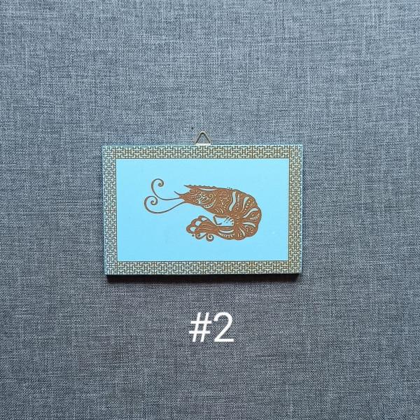 Sea Animals MDF Engraved Set - Sea Animals 2