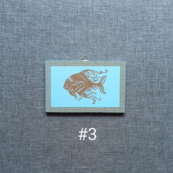 Sea Animals MDF Engraved Set - Sea Animals 3
