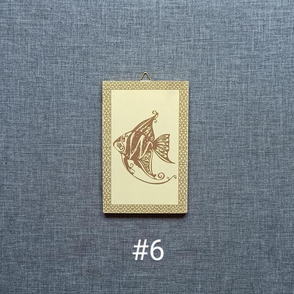 Sea Animals MDF Engraved Set - Sea Animals 6