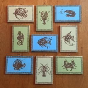 Sea Animals MDF Engraved Set