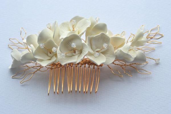 Eabha Bridal Flower Comb