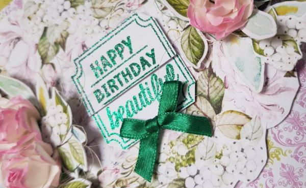 Customised Handmade Box Card -