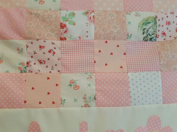 Personalised New Baby Cot Quilt - personalised quilt2
