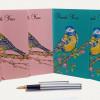 Set of 6 Thank You Bird Notecards