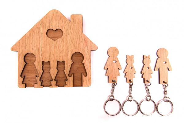 Handmade Wooden Key Holder -