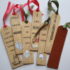 Leather and Linen Bookmark