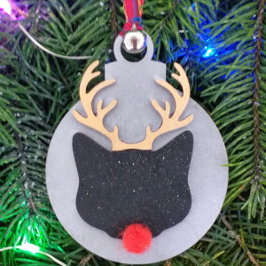 Christmas Rudolph Cat Bauble