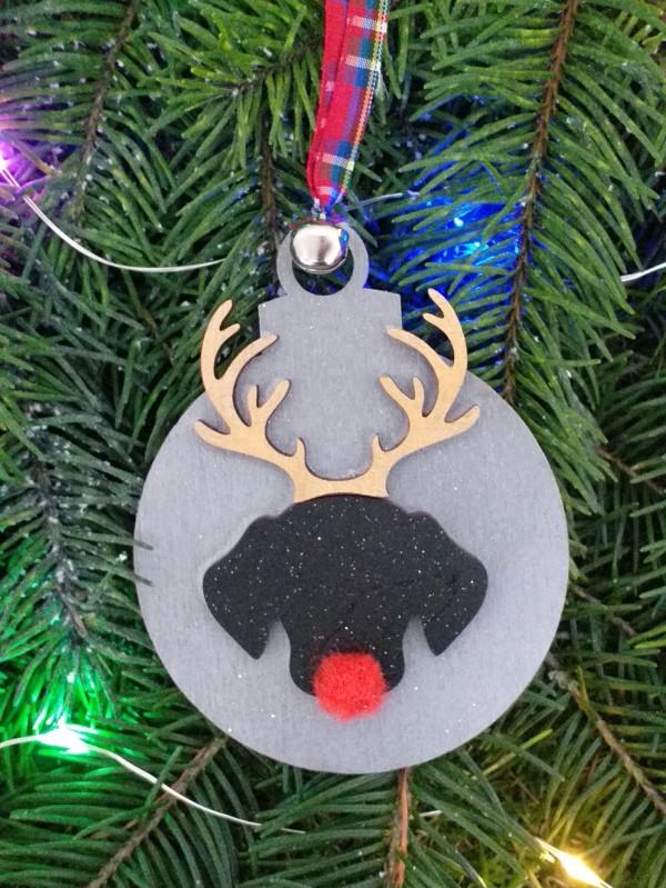 Christmas Rudolph Dog Bauble