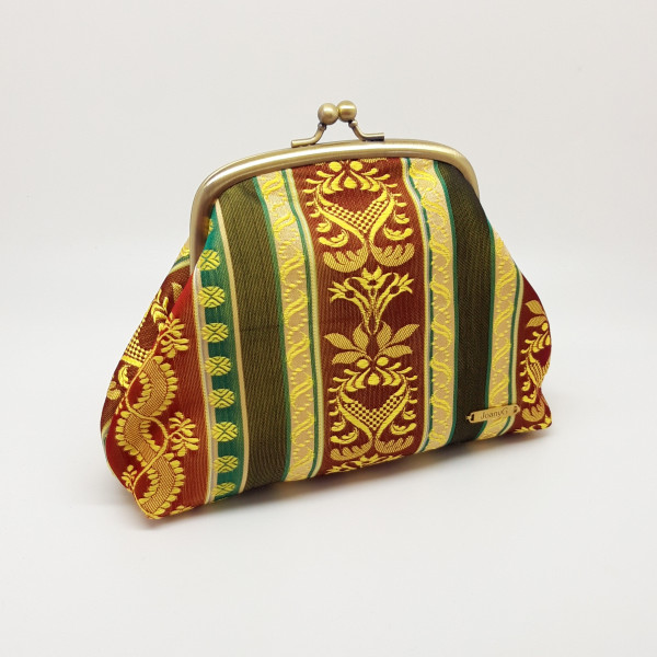 Gold Brocade Clutch Bag - 20210803 202835