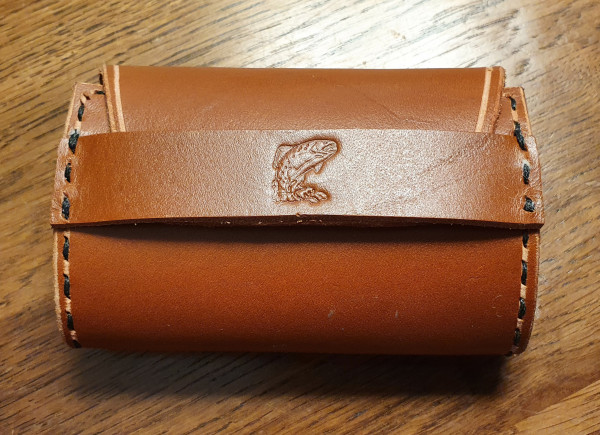 Fly Fishing Streamer Wallet with Strap Closing