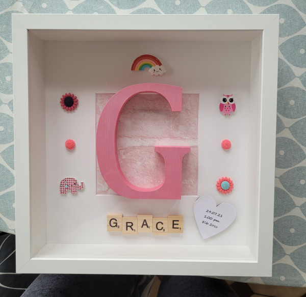 Large Hand Painted Initial Letter Frame - 20210810 174407 scaled