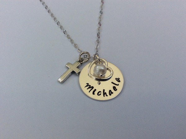 Holy Communion Personalised Necklace with cross - 78FE1DA8 8969 4E25 81BF AA46B8A241FD scaled