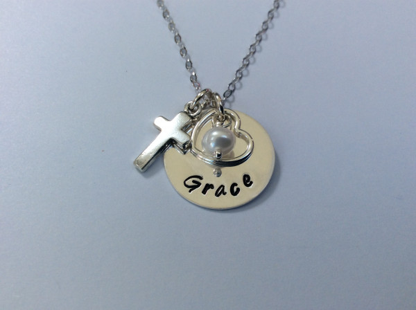 Holy Communion Personalised Necklace with cross - 876F05AF DE27 41D7 A25A 45A8AF5A3ABD scaled