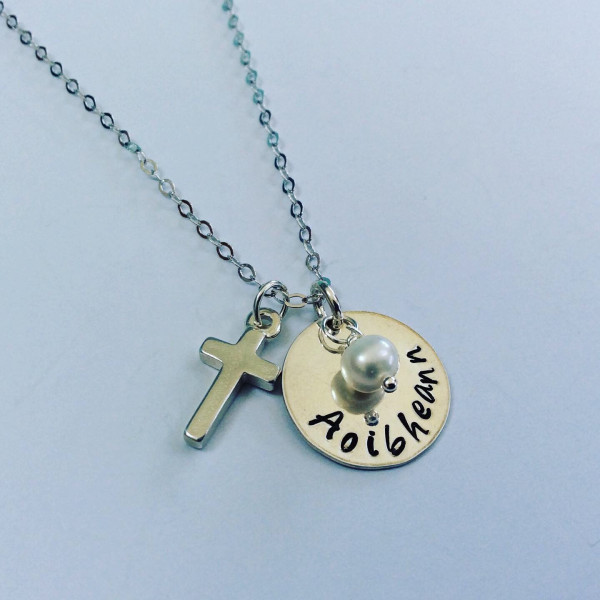 Holy Communion Personalised Necklace with Birthstone - A3BA2A4D 25E3 44C2 8EA8 062BDC0F925B