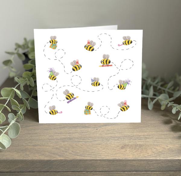Wild Watermelon Greeting Cards Birthday Bees