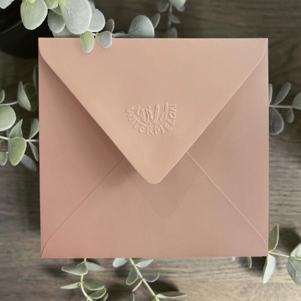 Wild Watermelon Greeting Cards Blush Envelope