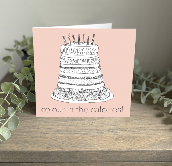 Wild Watermelon Greeting Cards Birthday Cake Colour Calories
