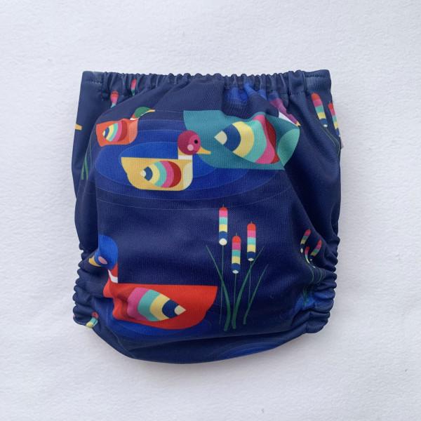 Duck Pond Pocket Cloth Nappy - DuckPondBack scaled