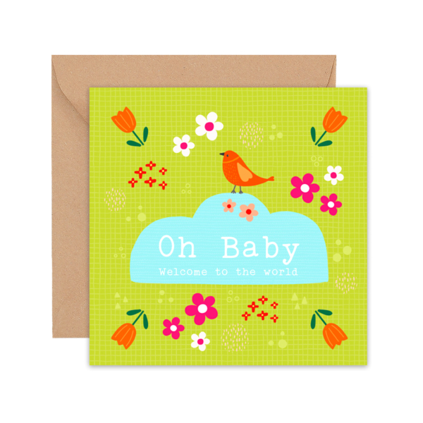 Oh Baby Welcome to the World - Greeting Card - FAM GC OH BABY 1