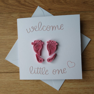 Handmade Welcome Little One Baby Card