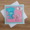 Personalised baby card, birthday, teddy - IMG 20210426 150925452