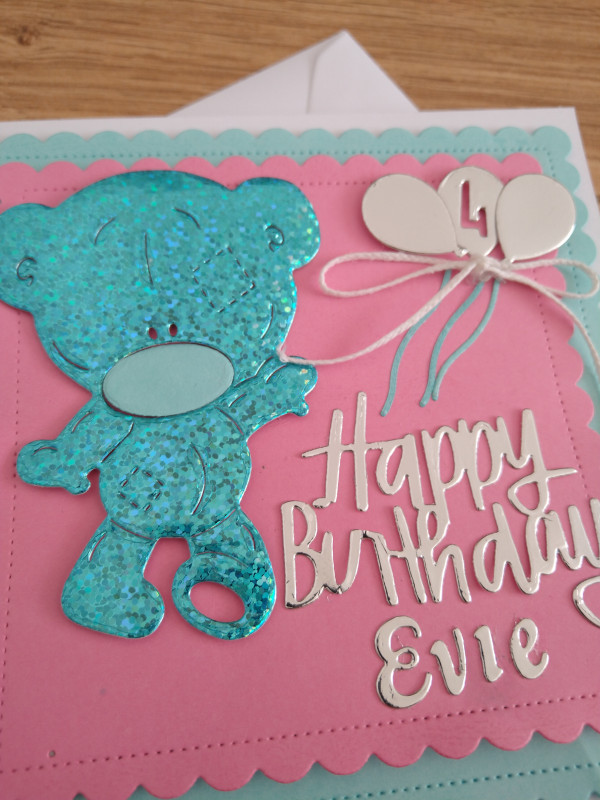 Personalised baby card, birthday, teddy - IMG 20210426 150930628 scaled