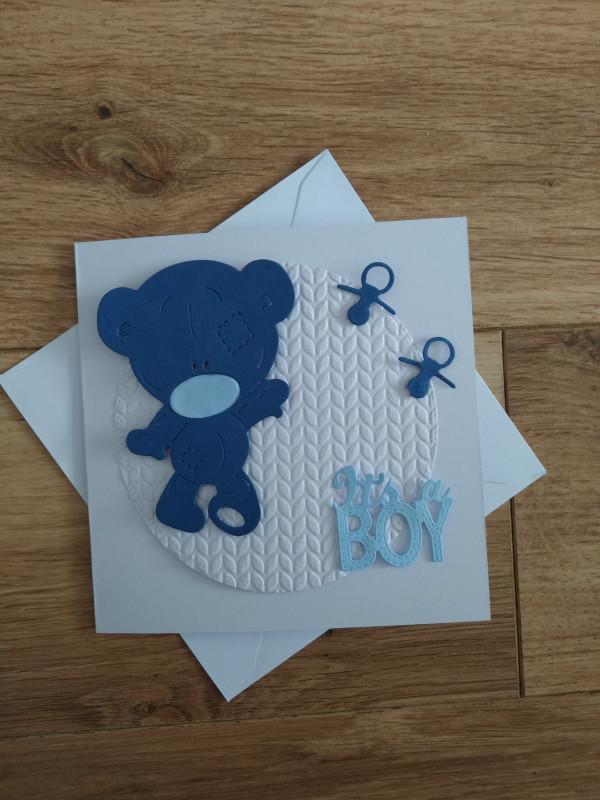 Handmade New Baby Card Baby Boy - IMG 20210502 1528185422 scaled