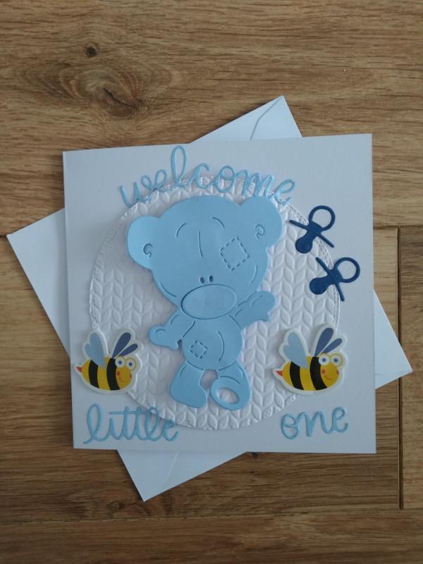Handmade New Baby Card Baby Boy - IMG 20210502 1528326522 scaled