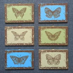 Butterflies MDF Engraved Set