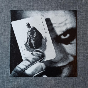 The Joker Engraved on a Canvas