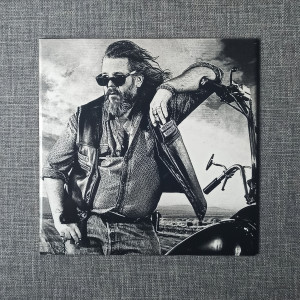 """Sons Of Anarchy Robert """"Bobby"""" Munson Engraved on Ceramic Tile"""