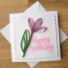 Quilled Flower Birthday Card