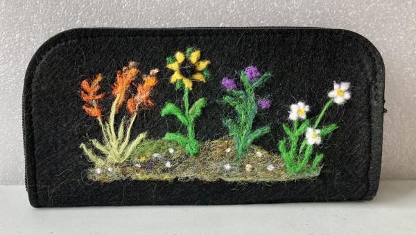 Irish Wildflowers Needlefelted Wallet/Purse