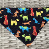 Dog Bandana Colourful Dogs and Paw Prints