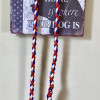 Dog Lead Braided Paracord Red White & Blue
